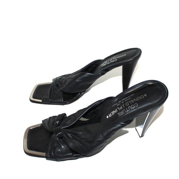 Donald J. Pliner Shoes - Donald J. Pliner Couture Mirror and Leather Mule